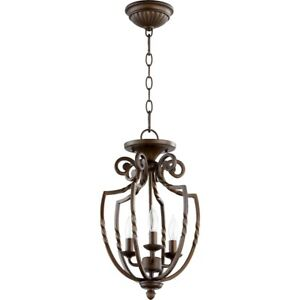 Quorum Tribeca Ii 3 Light Pendant, Oiled Bronze - 6778-3-86