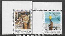 ARGENTINA 1987 25th ANNIVERSARY ANTARCTIC TREATY 2v Uper Left Corner MNH