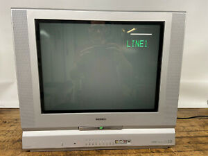 """Toshiba 20"""" CRT TV w/DVD player for vintage gaming MD20FM1 w/aftermarket remote"""