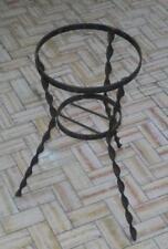 Artigianato artistico vecchio portavaso fioriera rotonda in ferro battuto