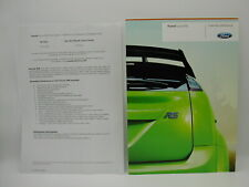 2008 Ford Focus RS brochure and price / spec sheet