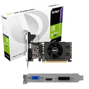 SCHEDA VIDEO NVIDIA 1GB DDR5 Palit GeForce GT 710 NE5T7100HD06-2081F FAN VGA/DVI