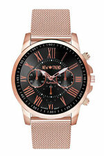 Armbanduhr Damenuhr Herrenuhr Uhr Metallarmband Weiß Rosegold Edelstahl Pink