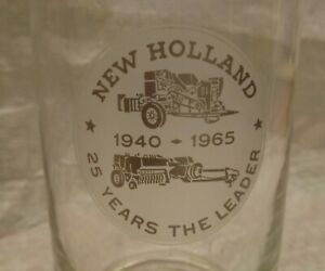 Vintage 1965 Sperry New Holland 25 Years The Leader 25th Anniversary Glass 40-65