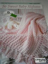 Vintage So Sweet Baby Afghans Crochet Pattern Book 5 Designs Knit Crochet Gift