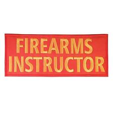 FIREARMS INSTRUCTOR large XL 10x4 inch body armor touch fastener patch
