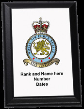 Personalised Wall Plaque - Royal Air Force Police Crest Old Style RAF