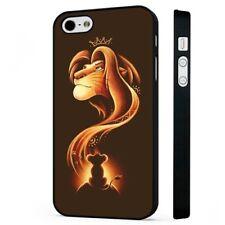 Disney El Rey León Simba Mufasa Arte teléfono negro Funda Encaja iPHONE