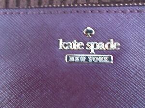 KATE SPADE COIN PURSE, BURGUNDY COLOUR, VERY GOOD USED CONDITION