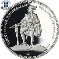 #981 Schweiz 50 Franken Silbermünze 1985 Schützentaler Altdorf in Münzkapsel