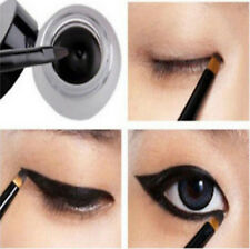 New Cosmetic Waterproof Eyeliner Shadow Eye Liner Gel Makeup + Brush Black EY