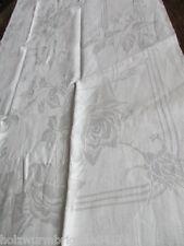 herrliches altes Leinen Halbleinen Geschirrtuch Handtuch Tischläufer (76)
