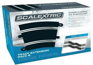 Brand New Boxed C8555 Scalextric Sport Track Extension Pack 6 Analogue/Digital.