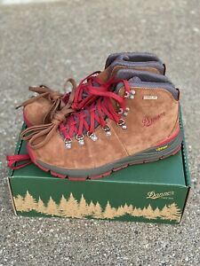 """Danner Mountain 600 4.5"""" Boots Brown/Red Size 8.5 D Men's Hiking Trail 62241"""