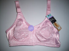 NWT Bali Double Support PINK Front Close Full Coverage WIREFREE Bra #DF1003 36C