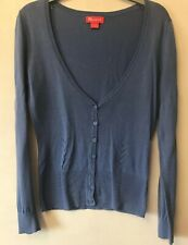 Monsoon UK 8 Blue Cardigan Dine Knit Embroidered Summer Holiday BBQ Cruise