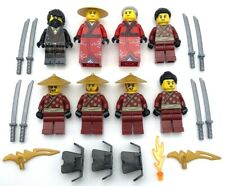 Lego 8 New Samurai Minifigures Men with Armor and Swords Weapons