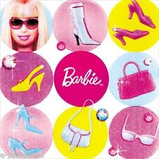 BARBIE All Doll'd Up SMALL NAPKINS (16) ~ Birthday Party Supplies Cake Dessert