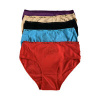 New women 5 pcs lots leopard print cotton briefs  underwear panties-M,L,XL,XXL
