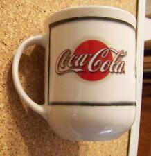 Coca Cola script logo porcelain coffee mug cup coke