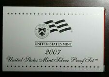 2007-S US Mint Silver Proof Set Includes State Quarter & Presidents Proofs - COA