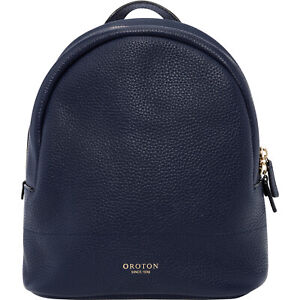 Navy color small size New Oroton full Leather Avalon Backpack Hand Bag BNWT