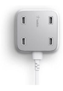 Belkin Family RockStar 4-Port USB Charger - 1 Pack - 5 V DC/5.40 A Output   - 1