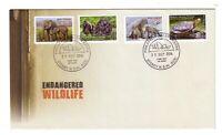 2016 FDC Australia. Endangered Wildlife. Peel & Stick. Various FDI Postmarks