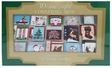Hand Crafted 30Count Christmas Cards with Self Sealing Embossed Foil Envelopes
