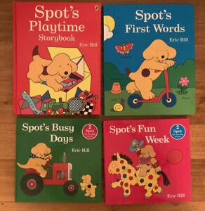 4 X Spot Books. Spot's Fun Week, Spot's Busy Days, Spot's First Words, Playtime.