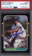 1987 Donruss #502 David Cone Rookie Signed Auto Autographed Card Royals PSA/DNA