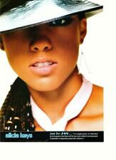 Alicia Keys Ja Rule teen magazine pinup clipping nice lips hat J-14 close up