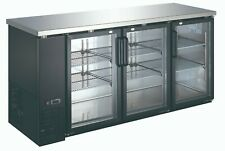 "Back Bar Cooler Commercial 24"" Depth Refrigerator 3 Door Beer/Drink Cooler"