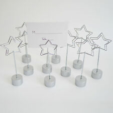 10pcs Silver Star Place Card Holder Wedding Favors Shower Party Table Decoration
