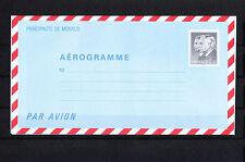 MONACO   entier postal  aérogramme    2f70   noir