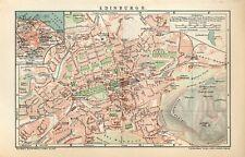 1900 SCOTLAND EDINBURGH CITY PLAN Antique Map dated