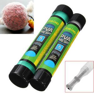 5M PVA Wide Mesh Stocking Plunger Tubes 44mm Carp Fishing Bait Mix Wrap Bags
