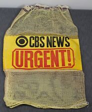 Cbs News Tv Radio Eye Logo Television crew camera film bag vintage 1960s video