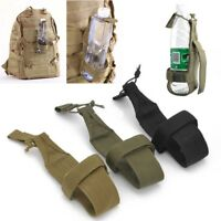 Nylon Men's Hiking Water Bottle Holder Backpack Belt Straps Carrier Pouch Tool