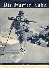Rarität - Illustrierte DIE GARTENLAUBE Nr. 1 vom 4.1.1934, Jäger im Schnee