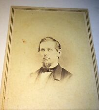 Antique Civil War Handsome Victorian American NY Man! Bogardus CDV Photo C.1862!