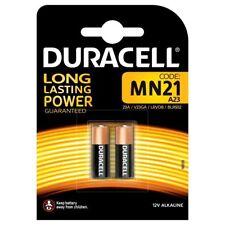 2 x MN21 Duracell LRV08 E23 Alkaline Car Alarm Doorbell Battery Long Life 12V