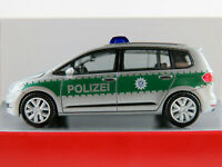 "Herpa 092104 VW Touran (2015) ""Polizei Bayern"" in silber/grün1:87/H0 NEU/OVP"