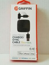 Griffen 2 in 1 Travel Charger/Sync Cable made for IPod IPhone IPad