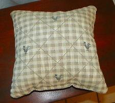 Check Chicken Print Decorative Print Throw Pillow 12 x 12