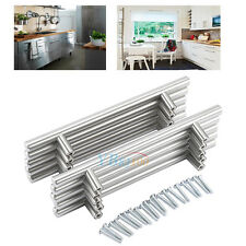 20 Stainless Steel Kitchen Cabinet Door Knob T Bar Cupboard Drawer Handle Pulls