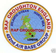 USAF BASE PATCH, RAF CROUGHTON ENGLAND, 422ND AIR BASE GROUP                   Y