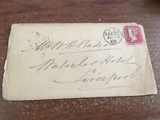 1862 Leeds England Letter Stationary Cover To  LIVERPOOL LETTER ADVERTISING