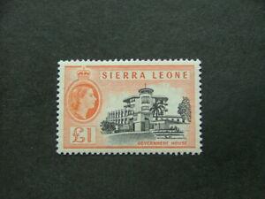 Sierra Leone QEII 1956 £1 black & orange SG222 VLMM