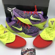 Nike Zoom KOBE VII 7 SUPREME CHEETAH CHRISTMAS PURPLE 488244-500 12 Grinch